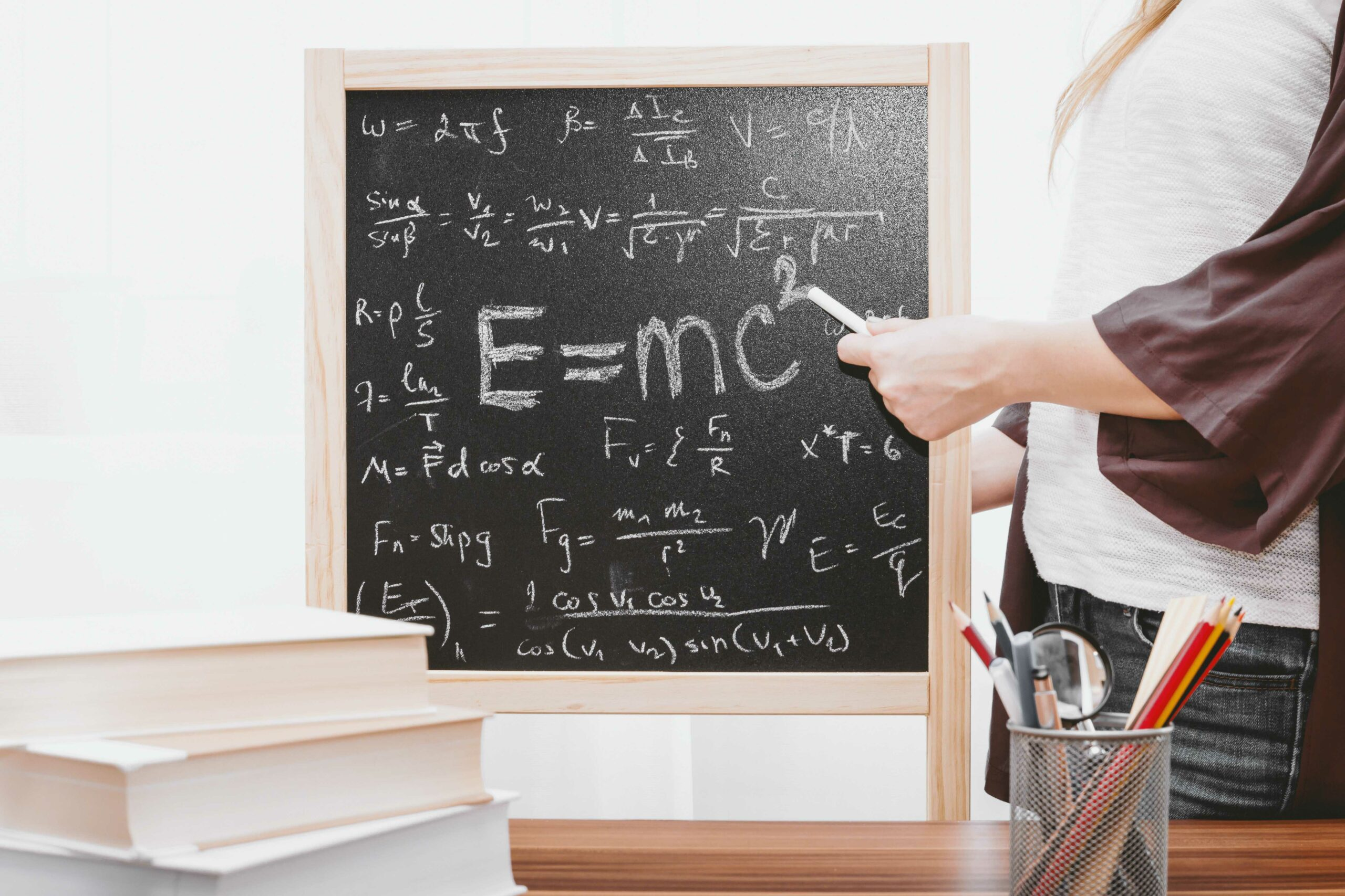 A blackboard with advanced equations.