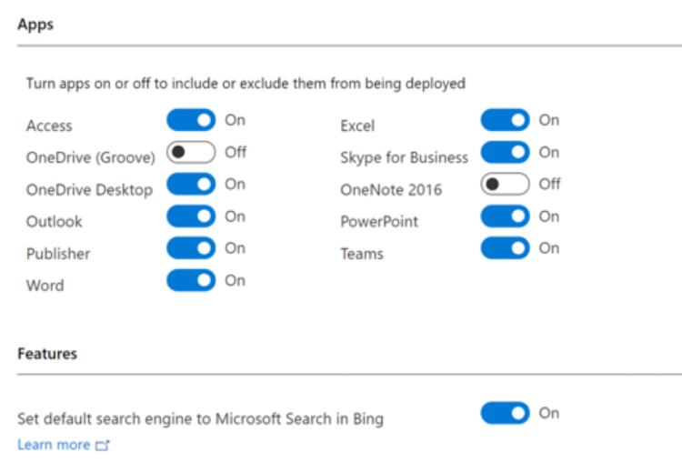 Office Configuration Manager Settings